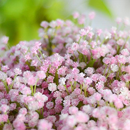 LianLe Kunstblumen Schleierkraut Blumenstrauß Dekorative Blumen Arrangement Tisch Hochzeit Party Deko Rosa Strauß