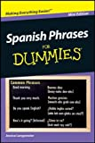 Spanish Phrases For Dummies Mini Edition by Jessica Langemeier (2011-12-24)