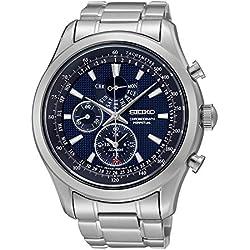 Seiko SPC125P1's Watch Quartz Chronograph Strap Blue Dial Steel Grey