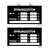 Öffnungszeiten Schild Geschäft, Ladenlokal, Einzelhandel; Dienstleistung, Türschild Preiswert im Format 23,5 x 12,5 cm, schwarz