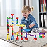 Innoo Tech Marble Run Toy Girls - 80pcs Marble Race Construction Games | Educational Entertainment Building Blocks for baby, boys, Kids