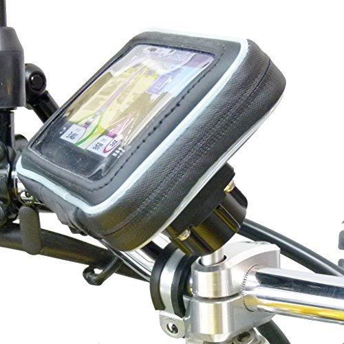 Garmin Fällen Zubehör Gps (BuyBits Motorrad, wasserdicht, für Motorradlenker, Halterung für Garmin Nuvi 2519 2519LM)
