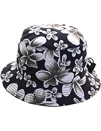 Ladies / Mens Packable Adjustable Bush Hat Floral Bucket Summer Sun