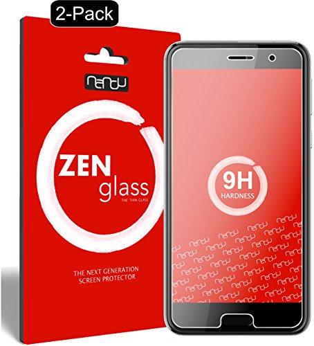 nandu I ZenGlass [2 Stück] Flexible Glas-Folie für HTC U Play Panzerfolie I Bildschirm-Schutzfolie 9H I (Kleiner Als Das Gewölbte Bildschirm)
