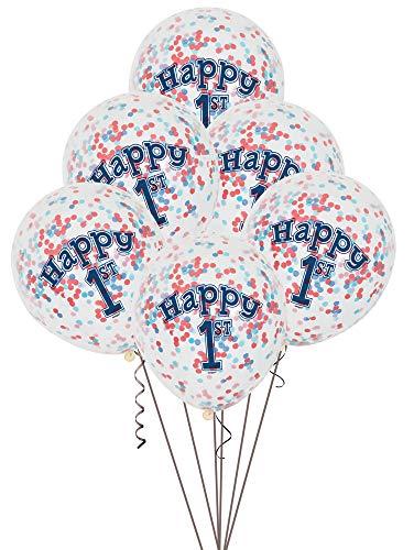 (Unique Party Supplies Geburtstagsbanner, Partyzubehör, nautisches Motiv, für Den 1.Geburtstag Geeignet)