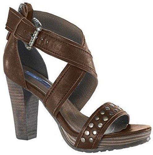 Sandalette von Chillany aus Nappaleder - Farbe Dunkelbraun Dunkelbraun