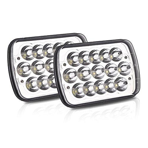 Rechteckiger Reflektor (2x 45W Rechteckigen LED Scheinwerfer Offroad Flutlicht Reflektor Scheinwerfer Arbeitsscheinwerfer H6014 H6052 H6053 H6054 Für Jeep Cherokee XJ Trucks von Samber)