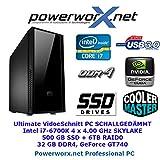 Professioneller Videoschnitt PC i7-6700K 32GB DDR4 500GB SSD Computer RechnerBLURAY | INTEL Z170 | GT740 | 6TB RAID0 | SCHALLGEDÄMMT