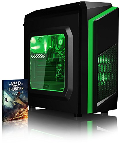 Vibox FX 18 Desktop PC da Gaming, Processore Intel i7 7700, 3.6 GHz, HDD da 1 TB, 8 GB di RAM, Scheda Grafica nVidia GeForce GTX 1050, Verde