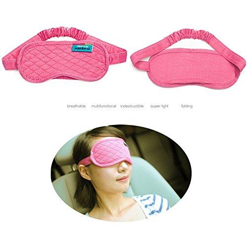 EQLEF® viaggio portatile traspirante visiera sonno carino facilità l'affaticamento degli occhi rosa