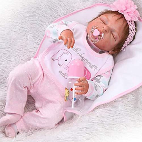 """ZIYIUI 23\"""" Echt Schlafend Reborn Babypuppe Ganzkörper Silikon Mädchen Lebensechtes Puppe Kleinkind Reborn Babys Dolls Neugeborenes 57 cm"""