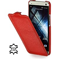 StilGut exklusive Ledertasche UltraSlim Case für HTC One in Rot