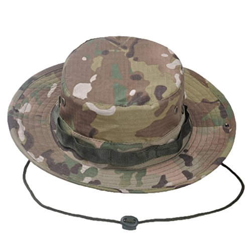 8b72ab7acd3f5 Wicemoon Men s Sun Hat Camouflage Bucket Hat Military Fishing Camping Cap  Hunting Jungle Wide Brim Bucket