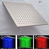 Best Plafond Douche Ampoules - Cascada 30,5cm support de plafond carré pluie LED Review