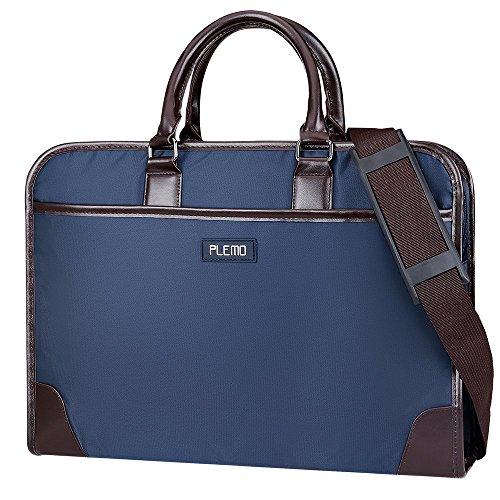Plemo Laptop Tasche wasserabweisende Business Tragetasche Aktentasche für 13-15,6 Zoll Laptop Notebook Macbook, Marineblau
