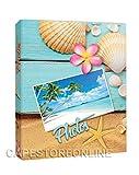 ZEP Album Fotografico 300 Foto 13x19 13x18 Raccoglitore a Tasche Portafoto a Fantasie Mare con Etichette memo