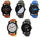 #4: Om Designer Combo of 5 Analogue Multi Color Dial Men's & Boy's Watch -Omi-Wtc0241