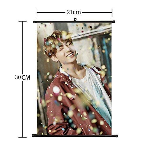 Kingmia Kpop BTS Bangtan Boys BTS Never Walk Alone Wand Rolle Stoff Plakat BTS Plakat Wandrolle Hängende Gemälde für A.R.M.Y (Plakat Alone Home)