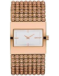 DKNY Damen-Armbanduhr Analog Quarz Edelstahl beschichtet NY8446