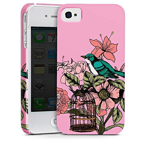 Apple iPhone X Silikon Hülle Case Schutzhülle Vogel Tattoo Blumen Premium Case glänzend