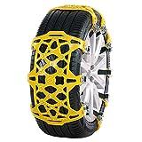 2 Stück Universal Auto Schneeketten, Winter Reifenketten Anti-Rutsch Ketten für Auto/SUV Reifenbreite mit 165mm-285mmm,einstellbare Winterplastikreifenräder für den Notfall