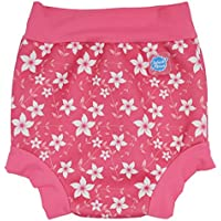 Splash About Happy Nappy, Pañal de natación para Bebé, Multicolor (Pink Blossom), X Large (12-24 Meses)