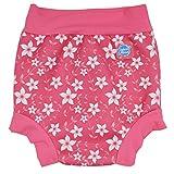 Splash About Happy Nappy, Pañal de natación para Bebé, Multicolor (Pink Blossom), X Large (12-24 Meses)