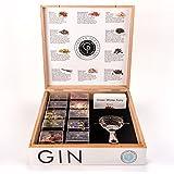 Greenplan Products - Gin & Tonic Gewürze Set mit 10 ausgewählten Gewürzen zum Verfeinern / in edler Holzkiste inkl. Rezeptkarten