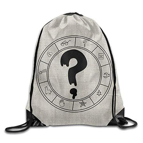 Unbekannt DoDoUp Rucksack mit Kordelzug Gravity Falls SOOS Question Mark Sack Bag Drawstring Backpack Sport Bag