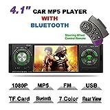 Lslya 10,4cm HD 1080p video singolo DIN auto Bluetooth Audio stereo ricevitore radio FM lettore MP3/USB/SD/TF/AUX/FM