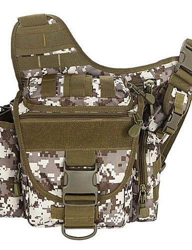 ZQ 2 L Umhängetasche Camping & Wandern Draußen Multifunktions Khaki / Armeegrün Leinwand Other Brown