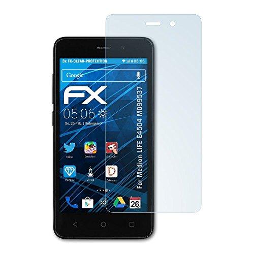 atFolix Schutzfolie kompatibel mit Medion Life E4504 MD99537 Folie, ultraklare FX Bildschirmschutzfolie (3X)