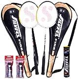 #4: Silver's Fire Badminton Racquet (2 Racquets, 1Box S/C Marvel, 2 PVC Grips)