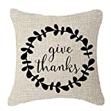 Doormat-bag Thanksgiving family friends gifts Thanksgiving give thanks Fruits Leaves wreath Throw Pillow Cover Cushion C