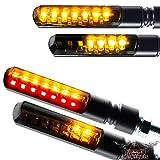 Motorrad LED Lauflichtblinker Set Blinker + Rücklicht Blinker Sequentiell Blade schwarz getönt vorn und hinten