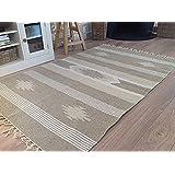 Segunda naturaleza mano tejidas Yute y algodón diseño geométrico alfombra 90 cm x 150 cm