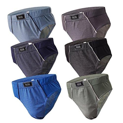 SGS 6-12 Stück Slips Herren Pack Sportslip für Männer Unterwäsche für Herren Unterhosen für Männer Slips Pants Farbmix (L, 6.Stück 530)