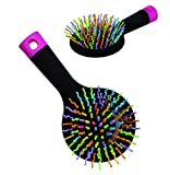 Rainbow Hair Brush With Multi- Coloured S Curl Wave Design Bristles - Women Colleague Female Friend Partner Teenager Teenage Girls Her Popular Health & Beauty Pamper Essential Bath & Body Care Accessory - Xmas Secret Santa Birthday Valentines Anniversary Leaving Gift Idea - One Supplied - Smiley Gifts - amazon.co.uk