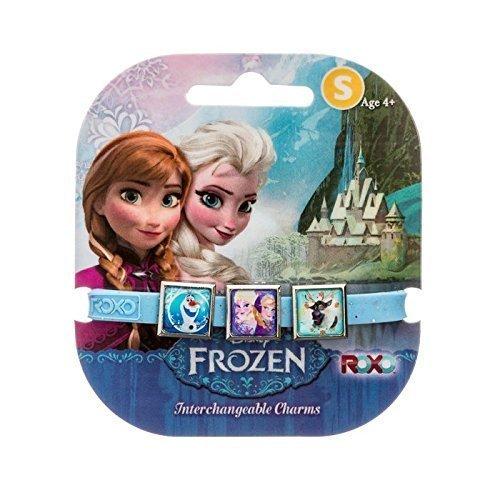 Disney gefroren: 3 Charms Roxo Band (Klein, Blue Glitter, Sven Olaf, Anna und Elsa)