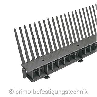 1 Meter Traufkamm Traufenlüftungselement | Abmessung: 55mm | Farbe: Anthrazit | nach DIN 4108 514102