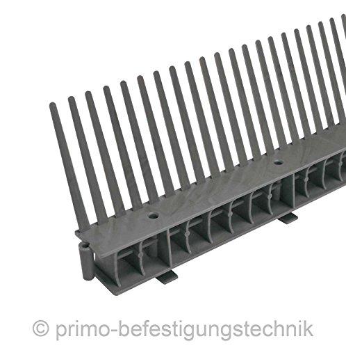 30 Meter Traufkamm Traufenlüftungselement | Abmessung: 55mm | Farbe: Anthrazit | nach DIN 4108 514102