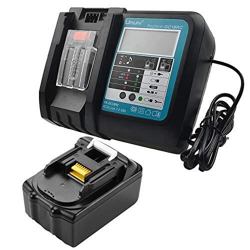 URUN BL1830 - Batería de ion de litio de 18 V 3,0 Ah con 3 A DC18RC DC18RD para atornillador de impacto LXT DTD152Z TD110DZ DTD146Z