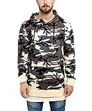 Phoenix Side Zip Hoodie Herren Langer Pullover Camouflage - L