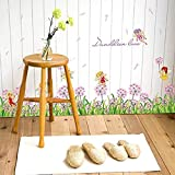 SYGA Dandelion Flower Fairy Wall Stickers Baseboard Removable Wall Sticker Decal, Children Kids Baby Home Room Nursery Living Room Kitchen Bedroom DIY Decorative Adhesive Art Wall Mural Vinyl Decals