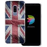 dessana England Transparente Silikon TPU Schutzhülle 0,7mm dünne Handy Tasche Soft Case für Samsung Galaxy S9 Plus England Fahne