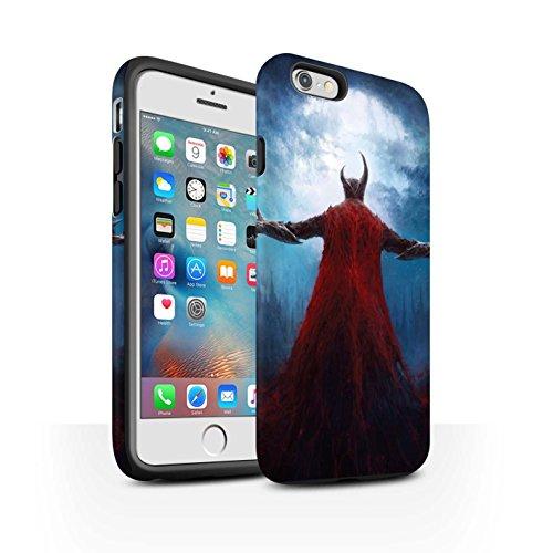 Offiziell Chris Cold Hülle / Matte Harten Stoßfest Case für Apple iPhone 6S+/Plus / Pack 6pcs Muster / Dämonisches Tier Kollektion Dunkelste Stunde