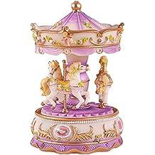 fubarbar caja de música–creativo Presente princesa Carrusel caja de música diseño de resina para amante cumpleaños regalo del día de San Valentín