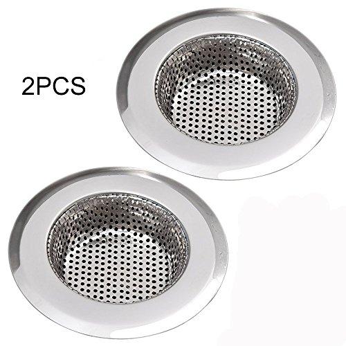 """Fregadero de Cocina acero inoxidable colador, Ancoz tapones adecuado para el diámetro de drenaje 3.3 \""""-3.7\"""" (2 pcs)"""