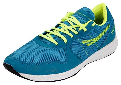 SEGA Unisex Blue and Yellow Running Shoes - 8 UK