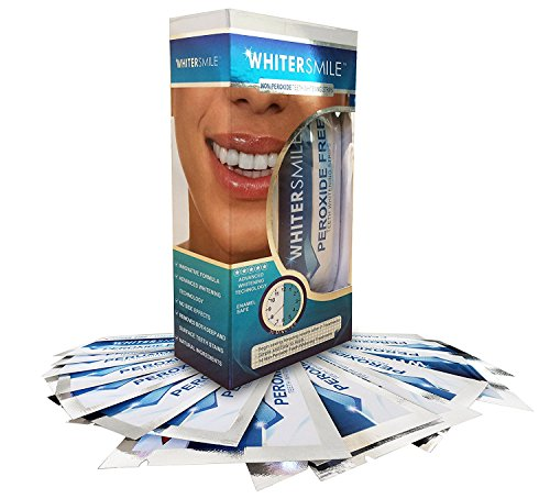 Professional Teeth Whitening Strips - 28 Premium Grade Teeth White Strips With Advanced Whitening Technology - Unlike other Teeth Bleaching Whitening Kits, Whitening Pens or Whitener Gel these Whiter Smile Strips contain Zero Peroxide - Safely Removing Both Deep & Surface Stains - Whiter Smile in Days - FAST RESULTS